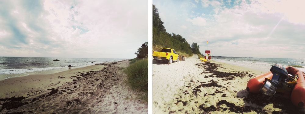 Piękne piaszczyste plaże w Ronne to idealne miejsce na odpoczynek.