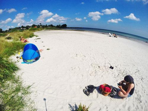 Piaszczyste plaże w Balce