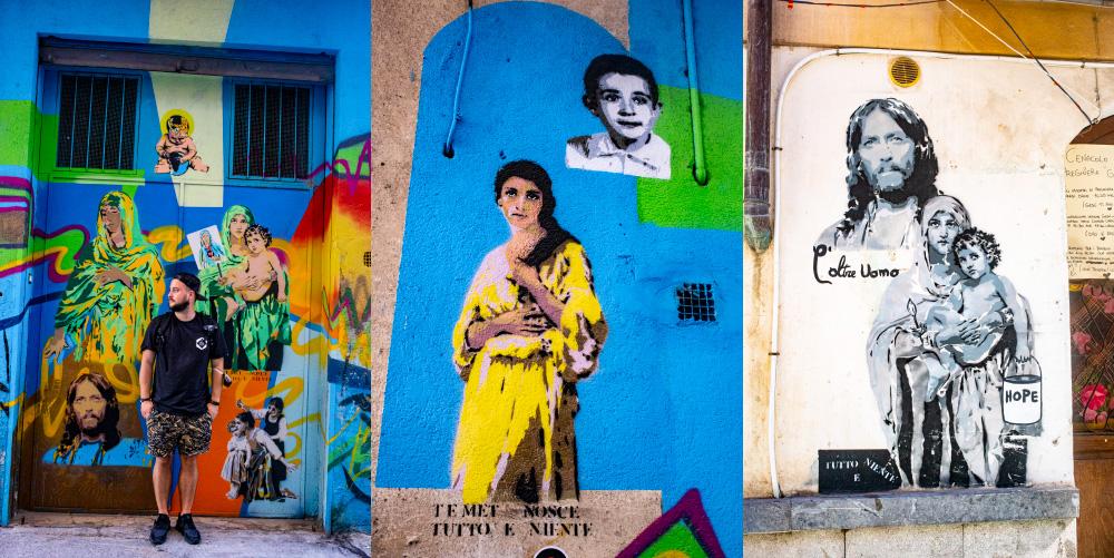 Dzielnica street art w Palermo