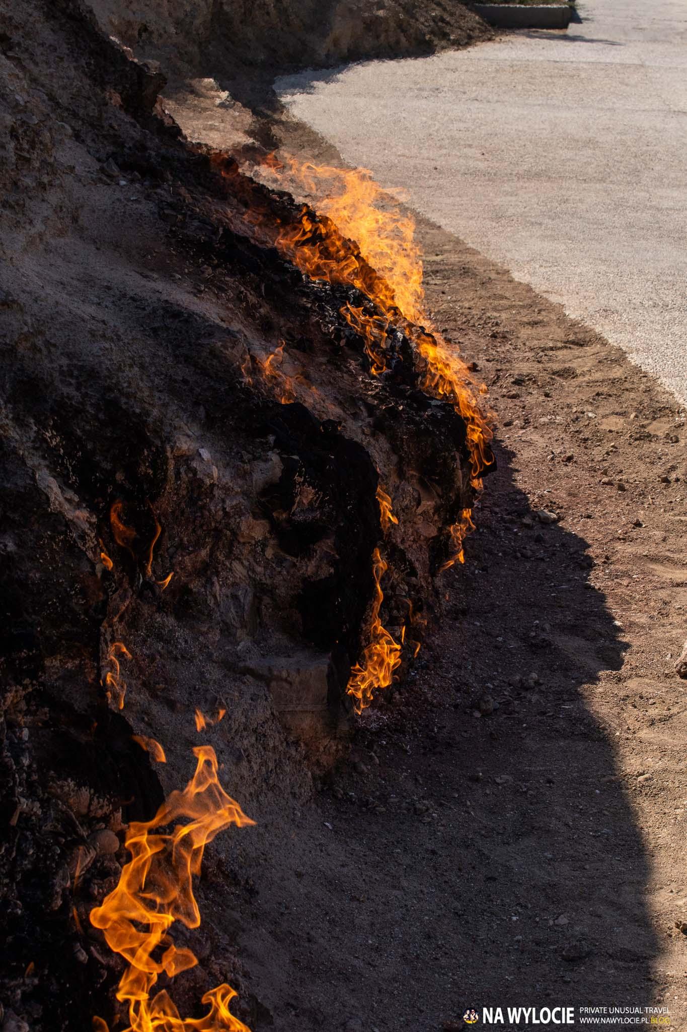 Góra ognia Janardag niedaleko Baku
