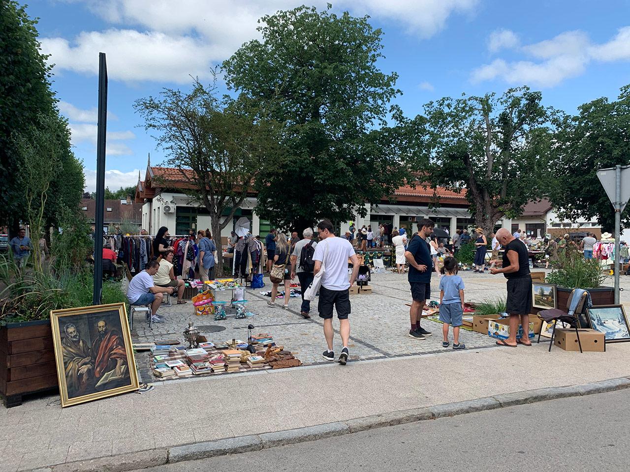 Gdańskie bazary, pchli targ w Oliwie